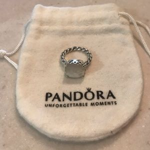 Pandora Mother Of Pearl Sincerity Ring